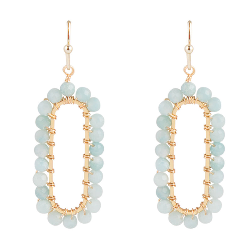Beaded Amazonite Earring