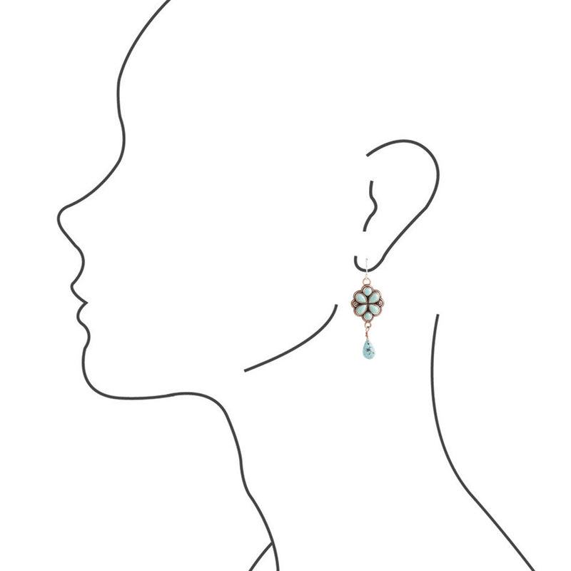 Turquoise Wildflower Earring