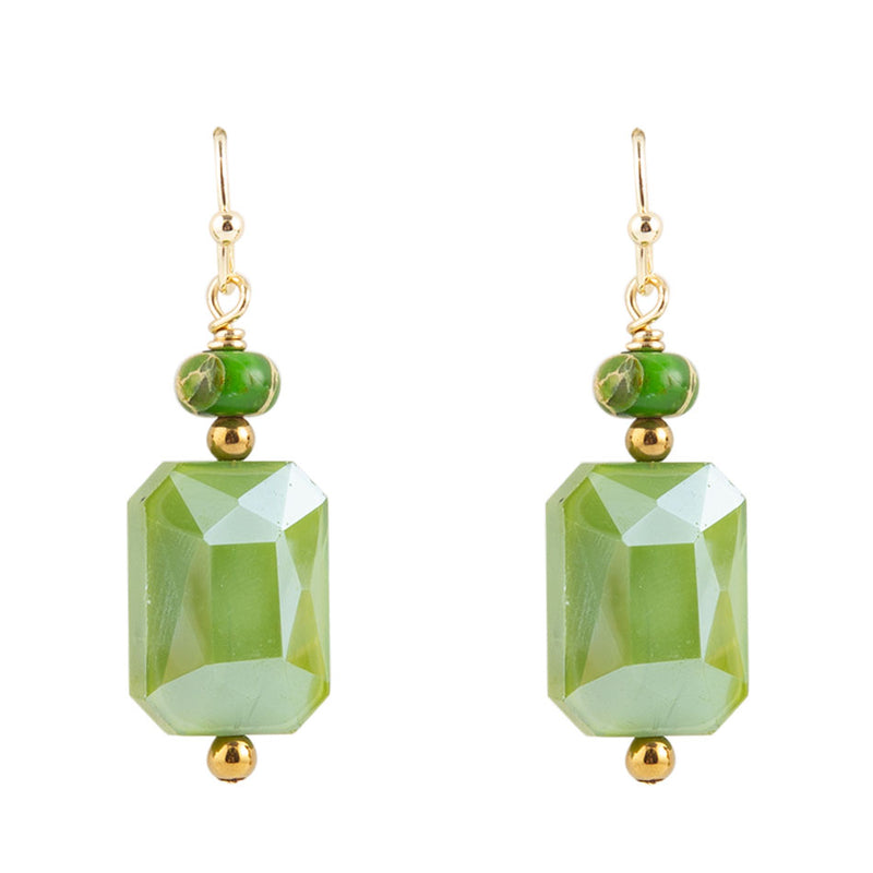 Green Glass Earring