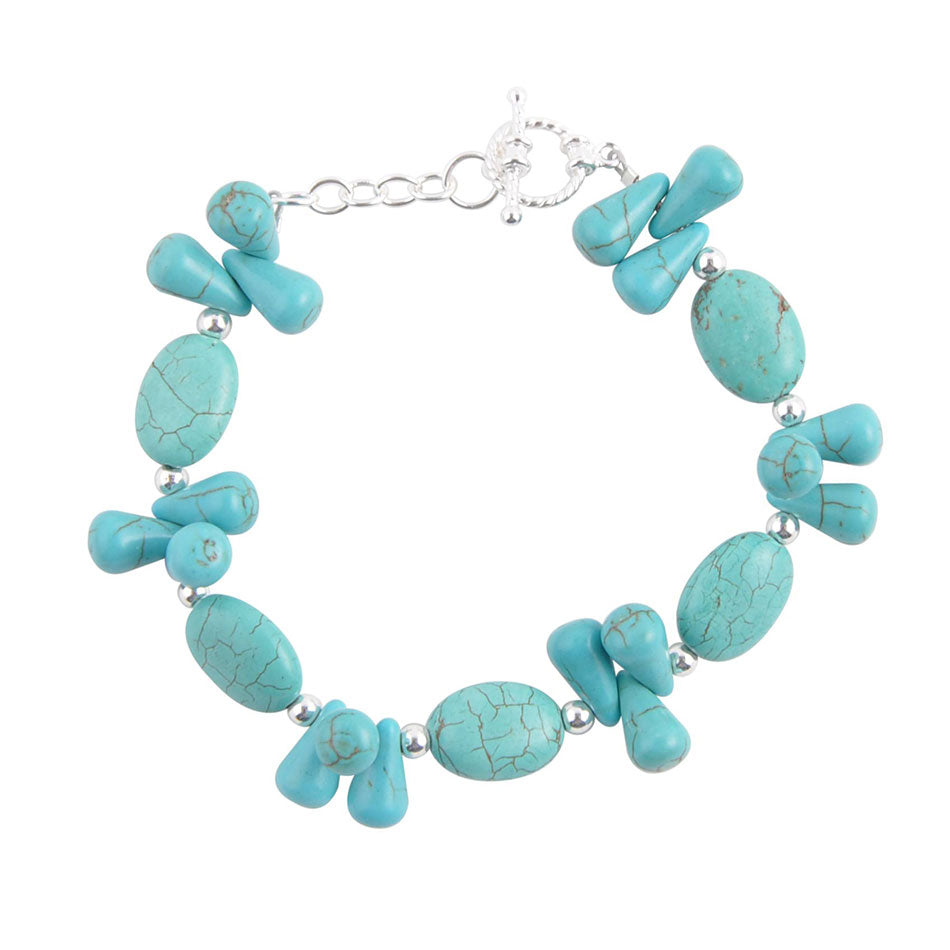 Drops of Turquoise Toggle Bracelet
