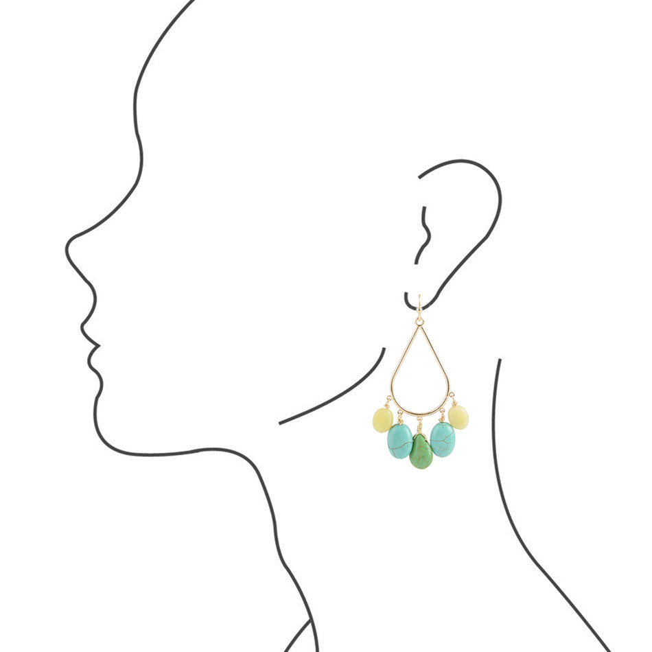 Drops of Lemon and Lime Earring