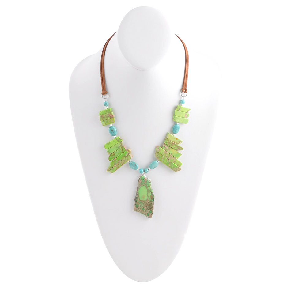 Spiked with Lime Necklace