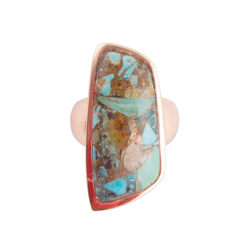 Abstract Boulder Turquoise Matrix Ring