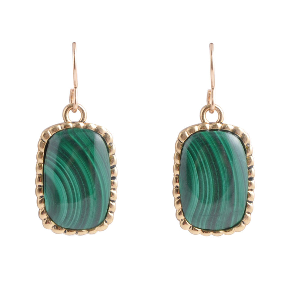 Nightfall Malachite Earring