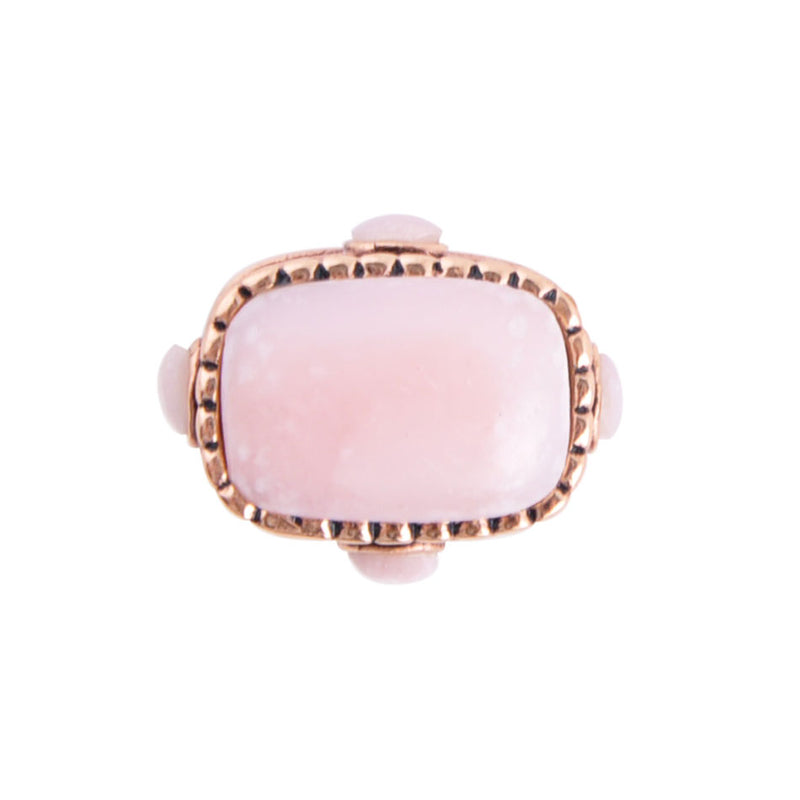 Pink Opal and Copper Ring