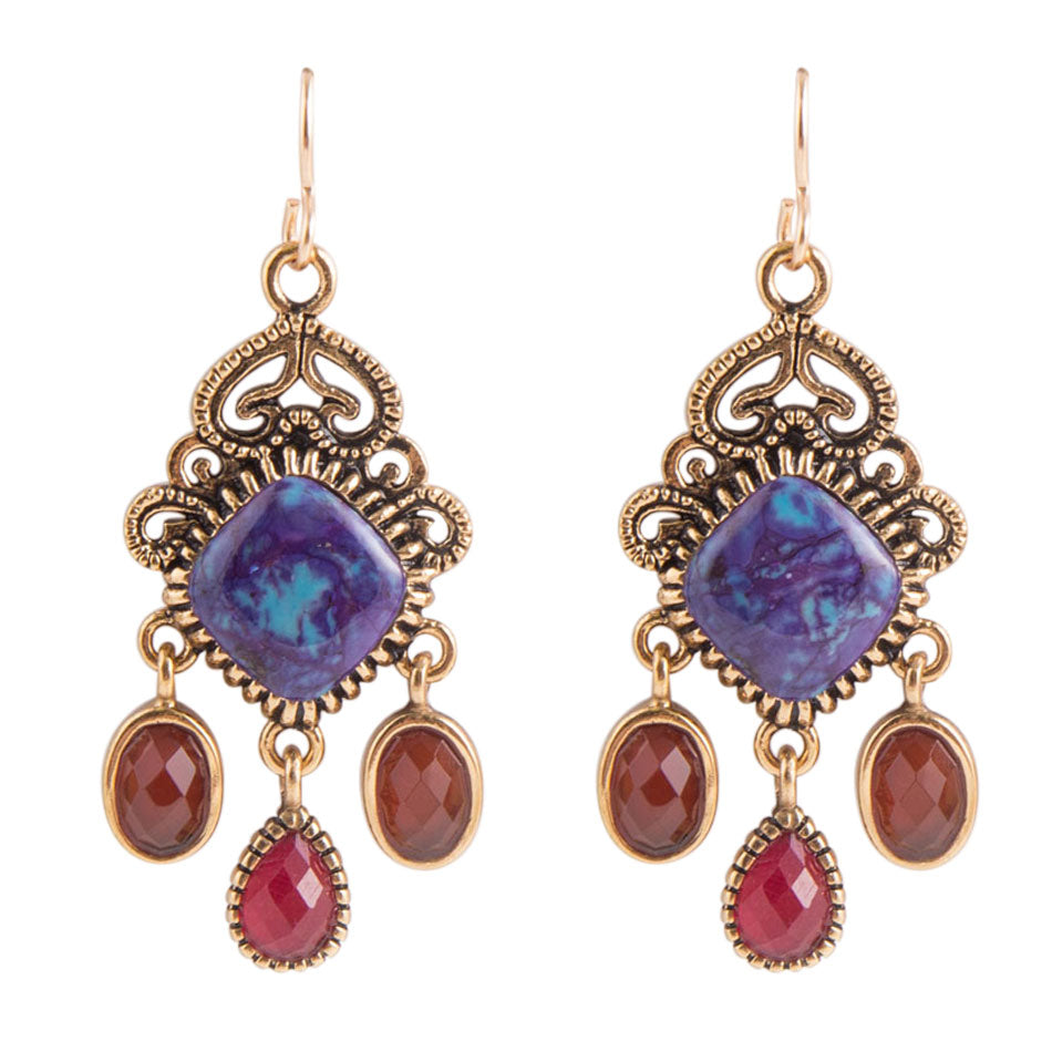 Purple Egyptian Earring