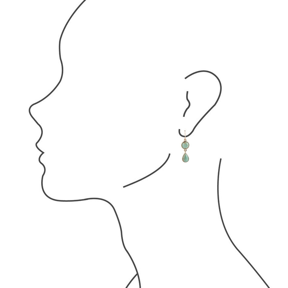 Two Turquoise Drop Earrings