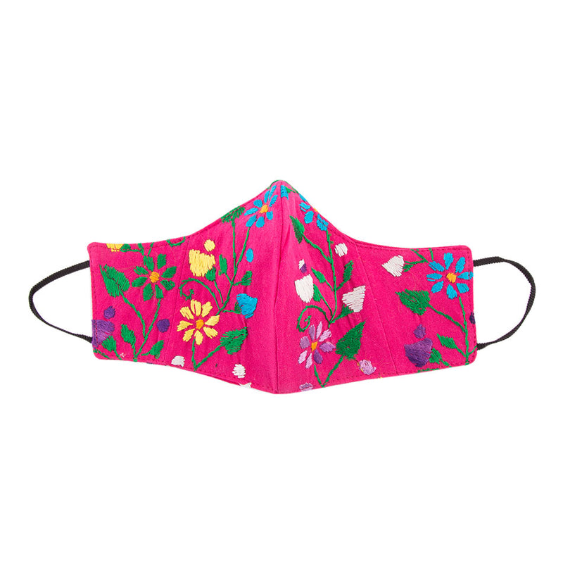 Embroidered Mask- Pink Floral