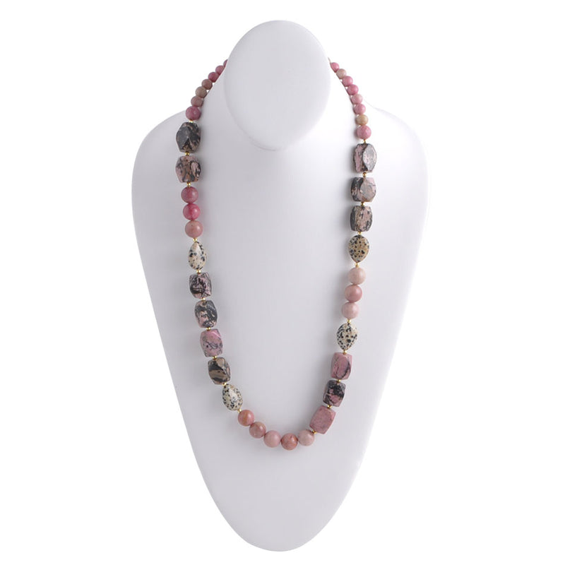 Mauve Jasper Long Necklace