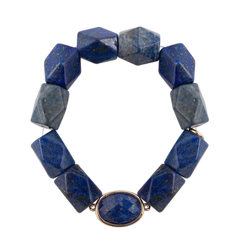 Lapis Nugget Stretch Bracelet