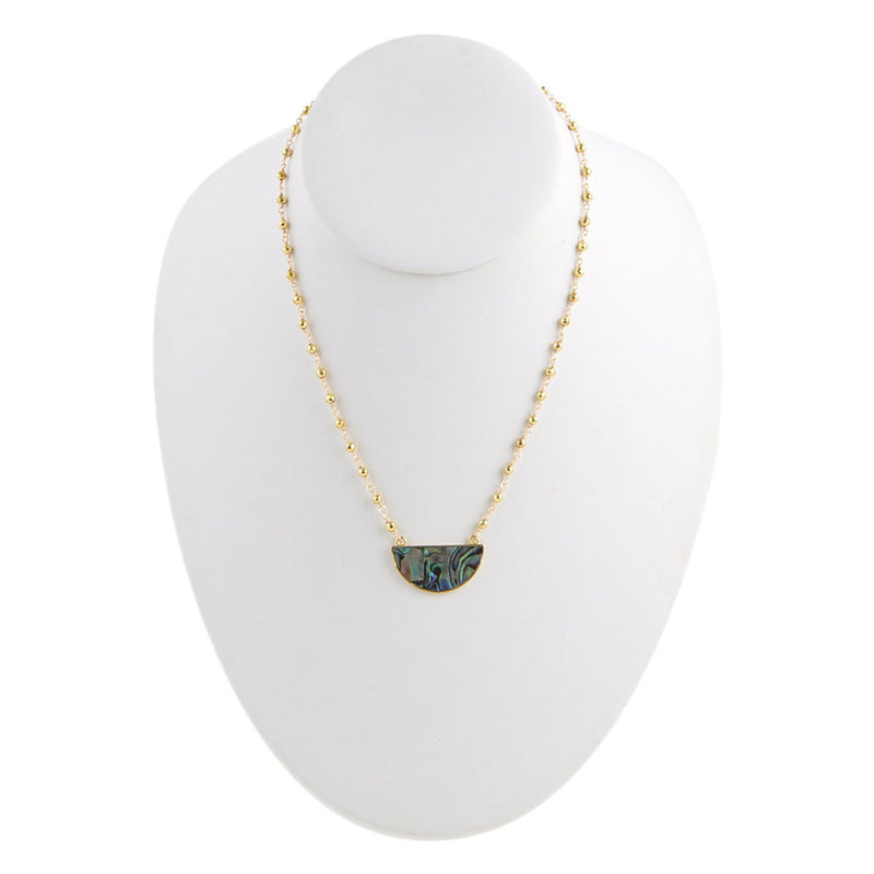 A Touch of Abalone Necklace