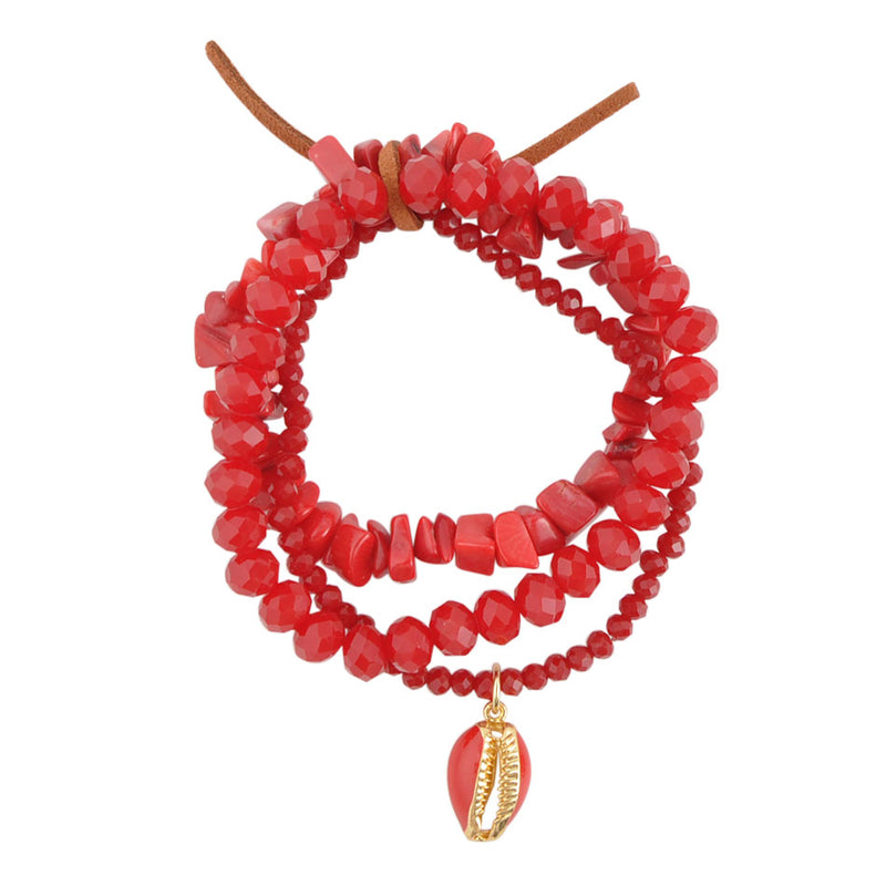 See Bamboo and Charm Stretch Bracelet