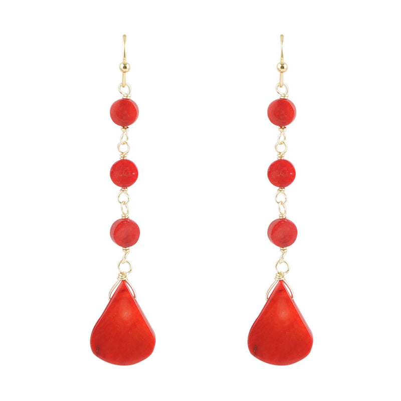 Red Sea Bamboo Chips Earring