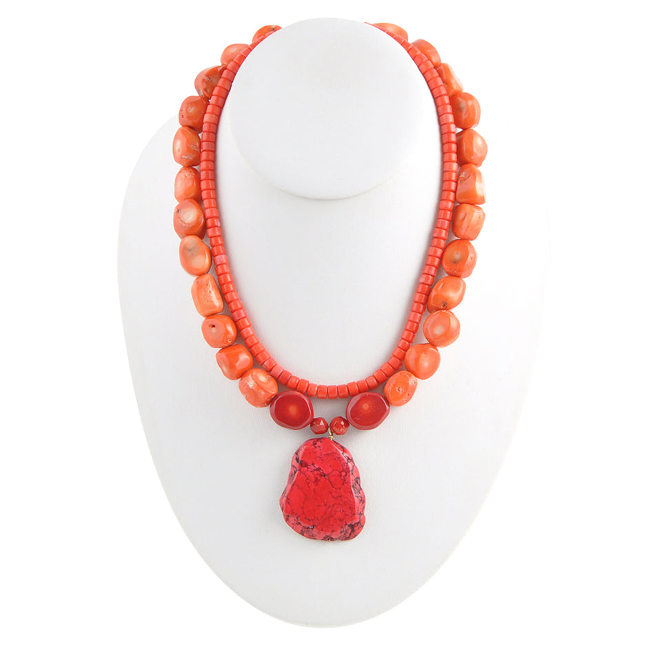 Salmon Statement Necklace