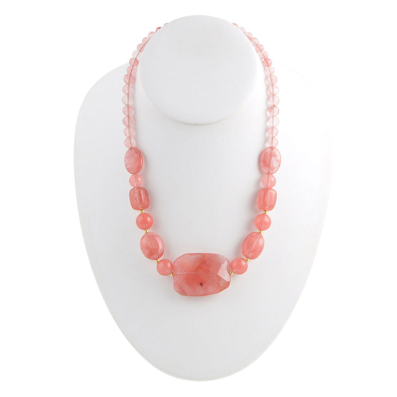 Salmon Quartz Necklace