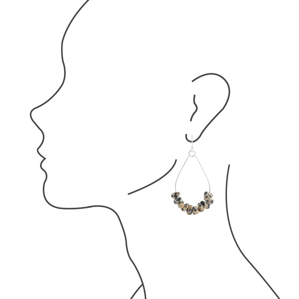 Dalmation Hoop Earring