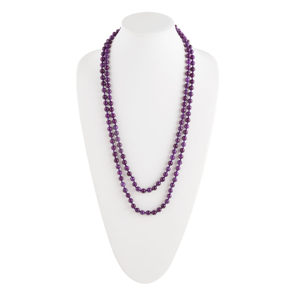 Immeasurable Bead Necklace- Purple Agate