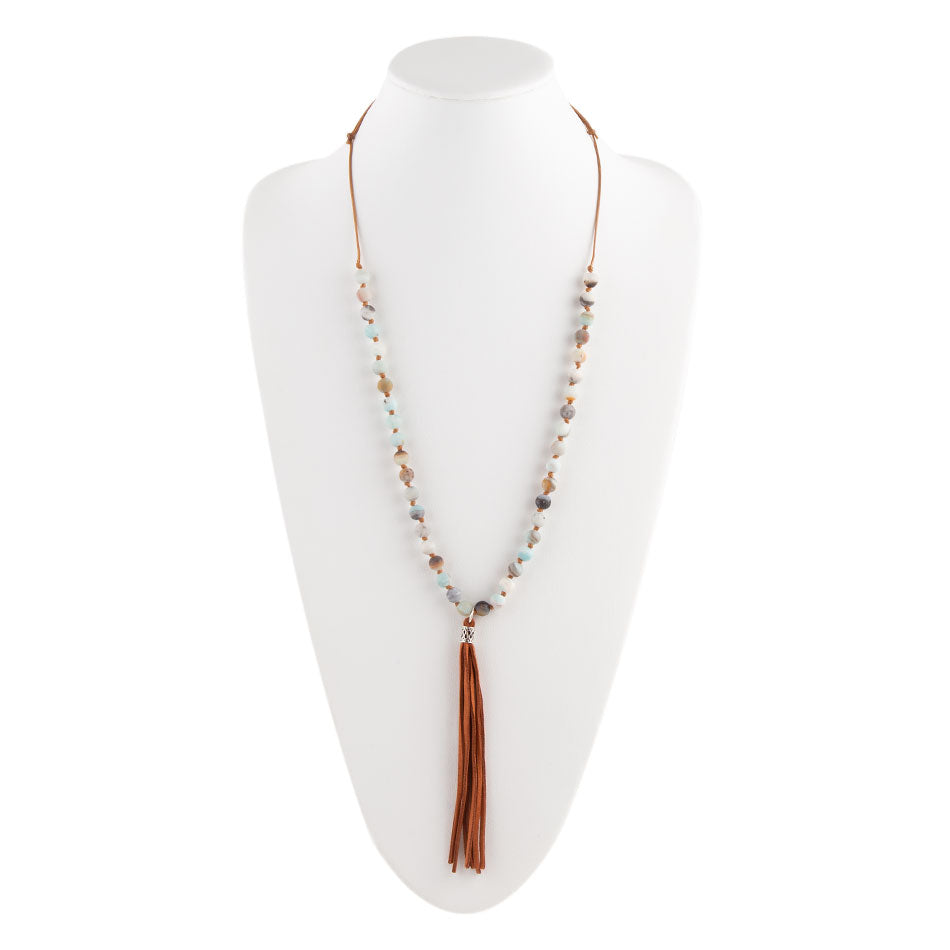 Such a Tassel Necklace-Amazonite