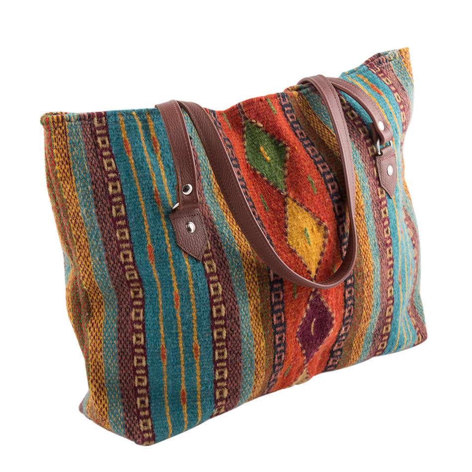Santa Fe Adobe Wool Tote Bag