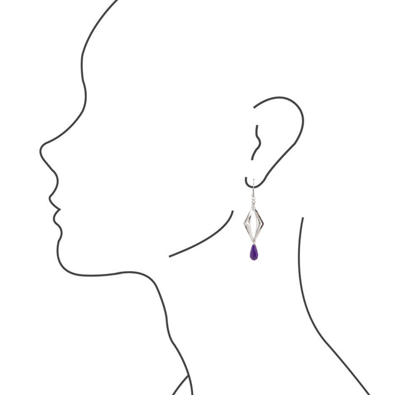 Prism Purple Jade Drop Earring