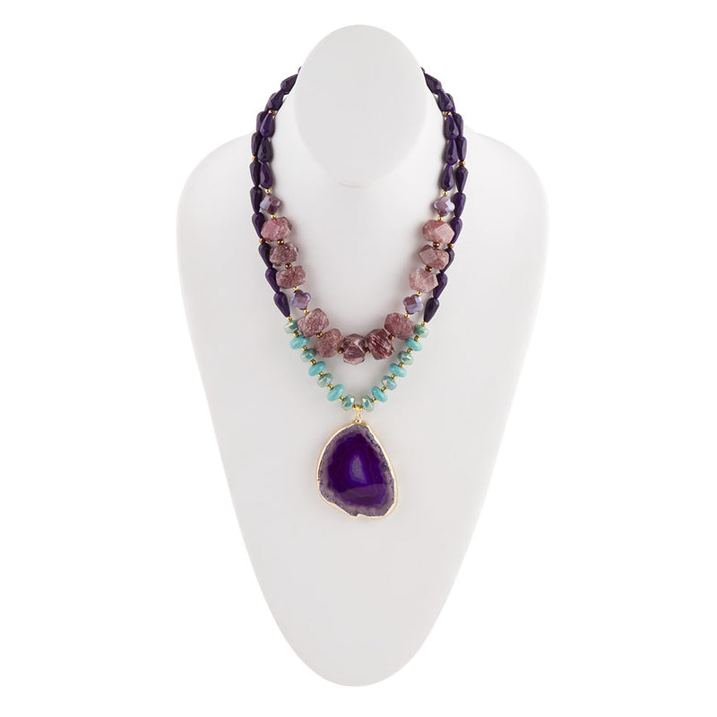 Color of Magic  Purple Agate Necklace