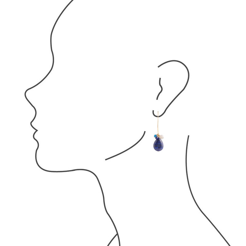 Lapis Love Earring