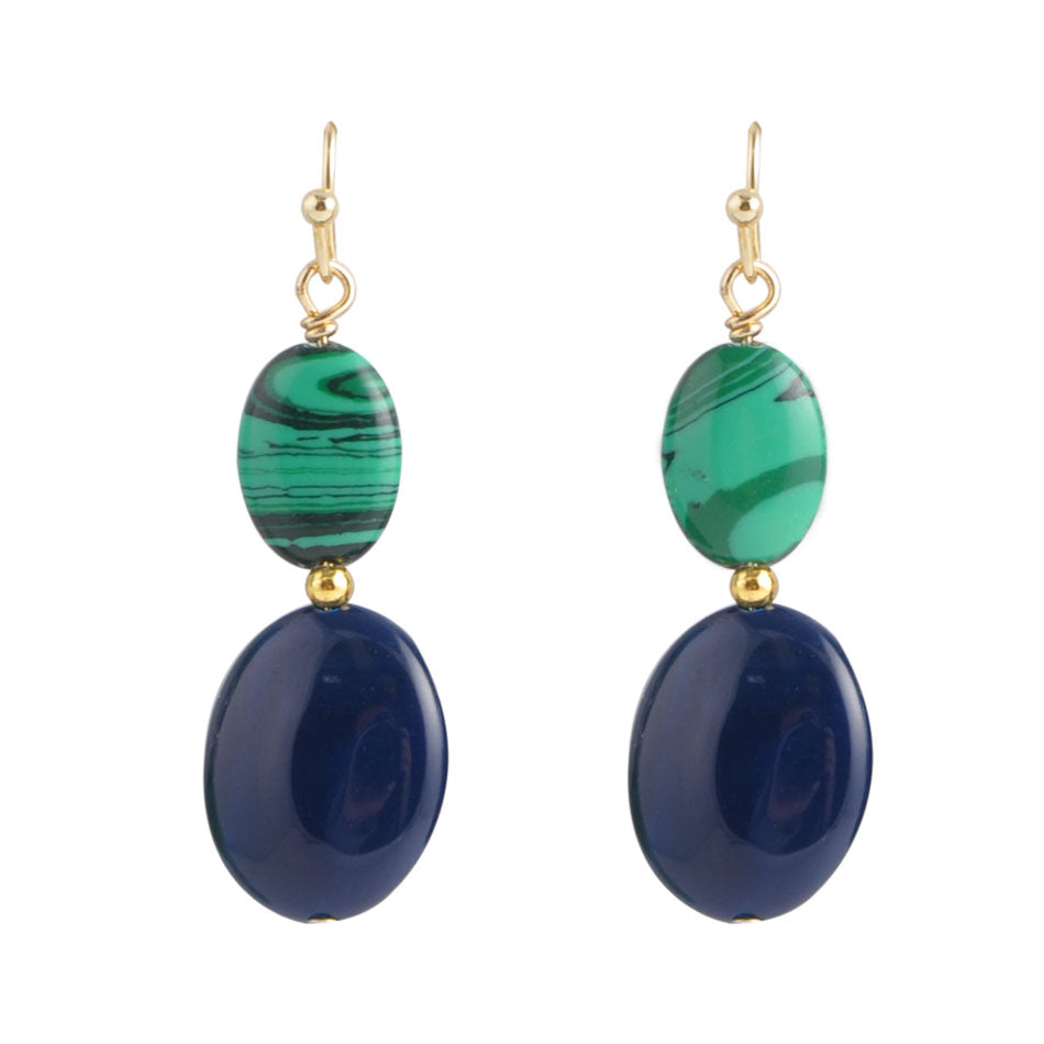 Smooth Agate Earring