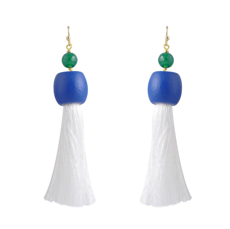 Large Tassel Statement Earring