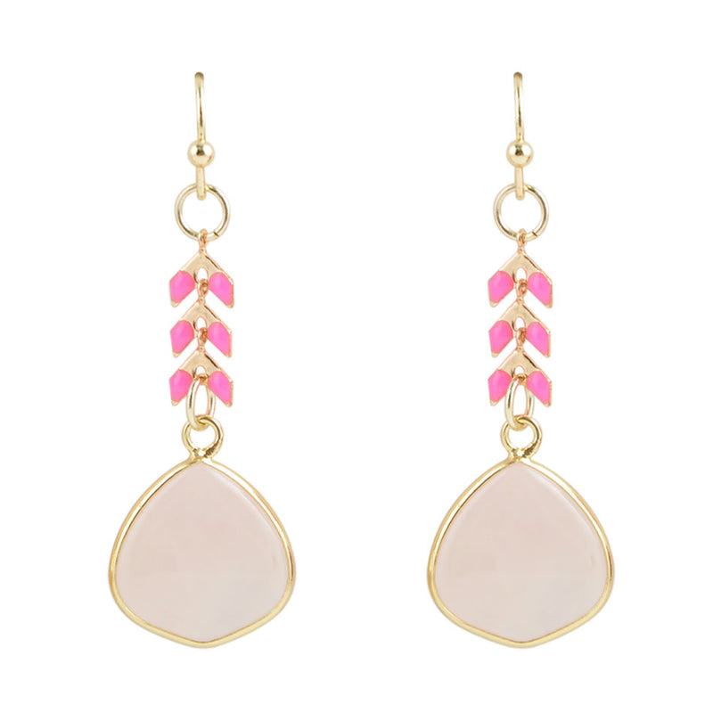 Pink Sunrise Earring
