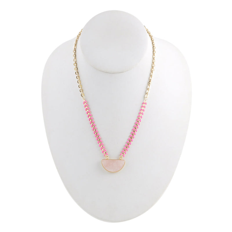 Pink Sunrise Necklace