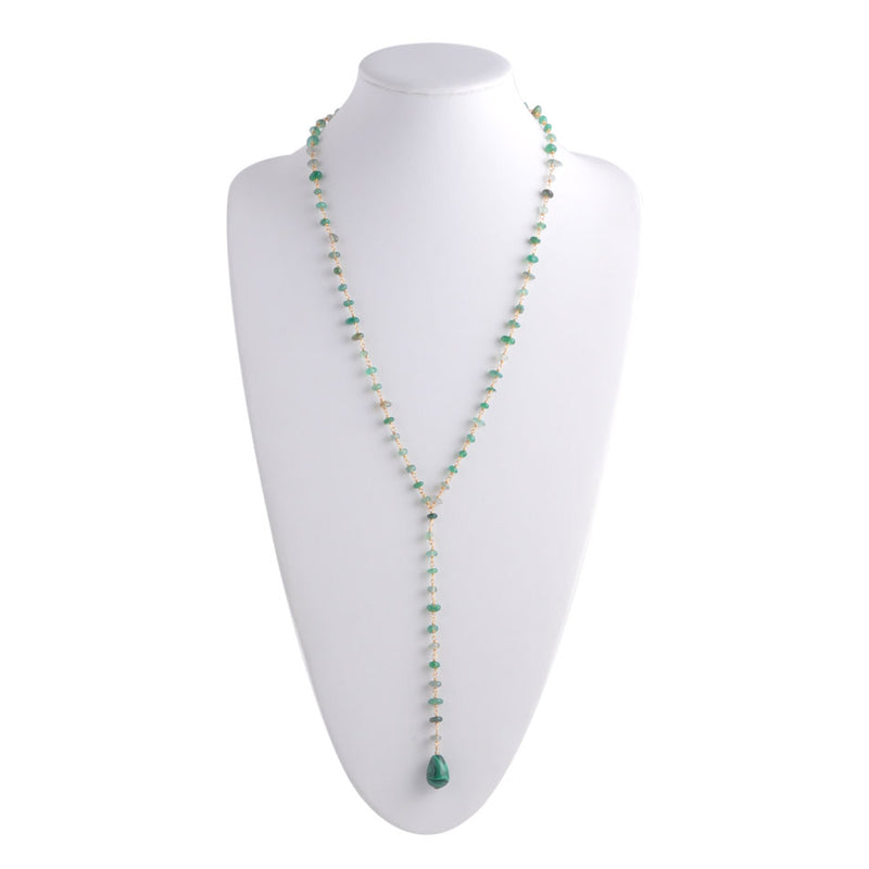 Drops of Green Y-Necklace