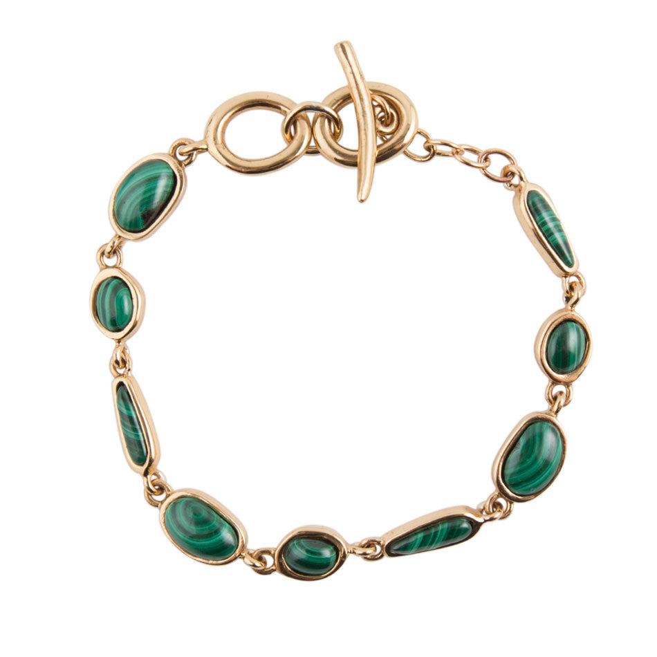 Abstract Malachite Adjustable Bracelet