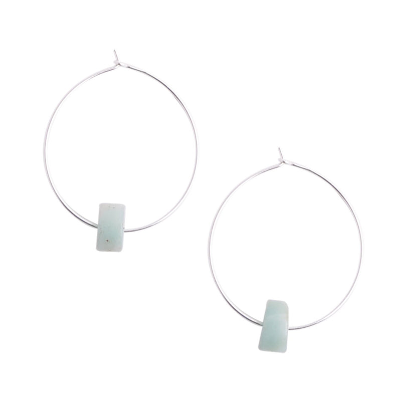 Amazonite Hoop Earring
