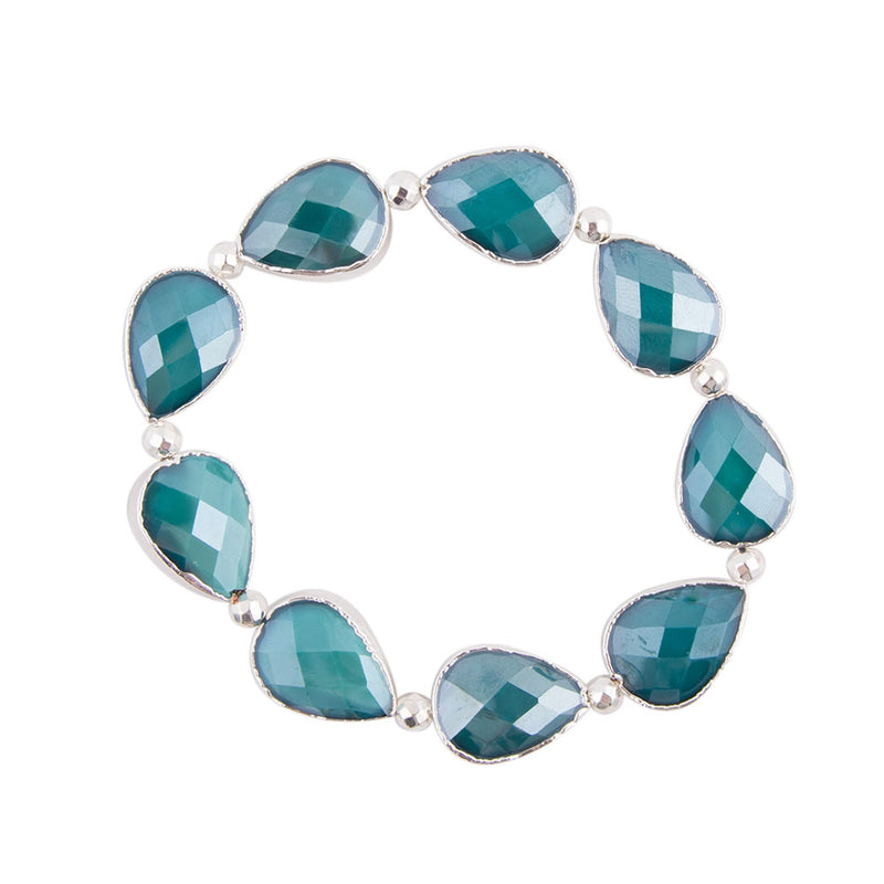 Glacier Teardrops Stretch Bracelet