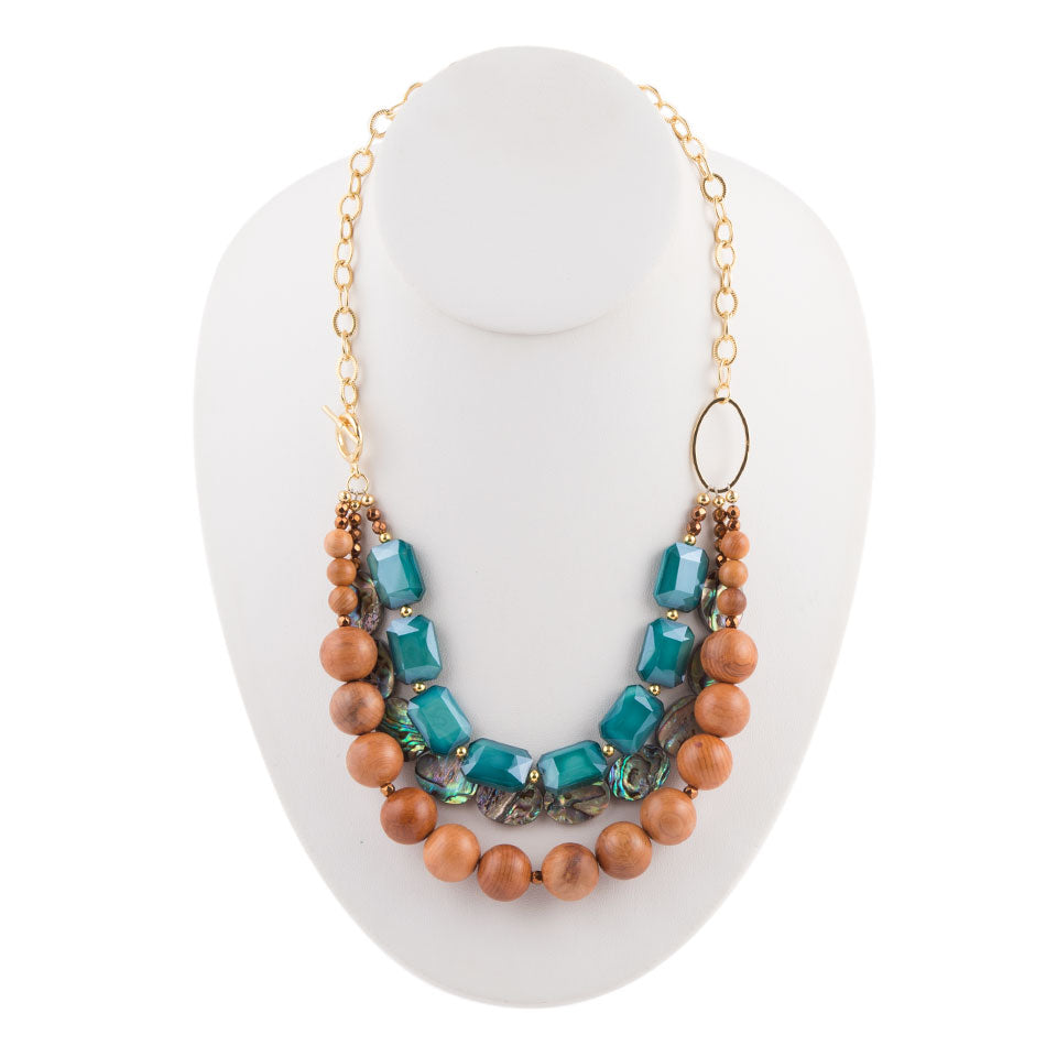 Sea-Light Layered Necklace