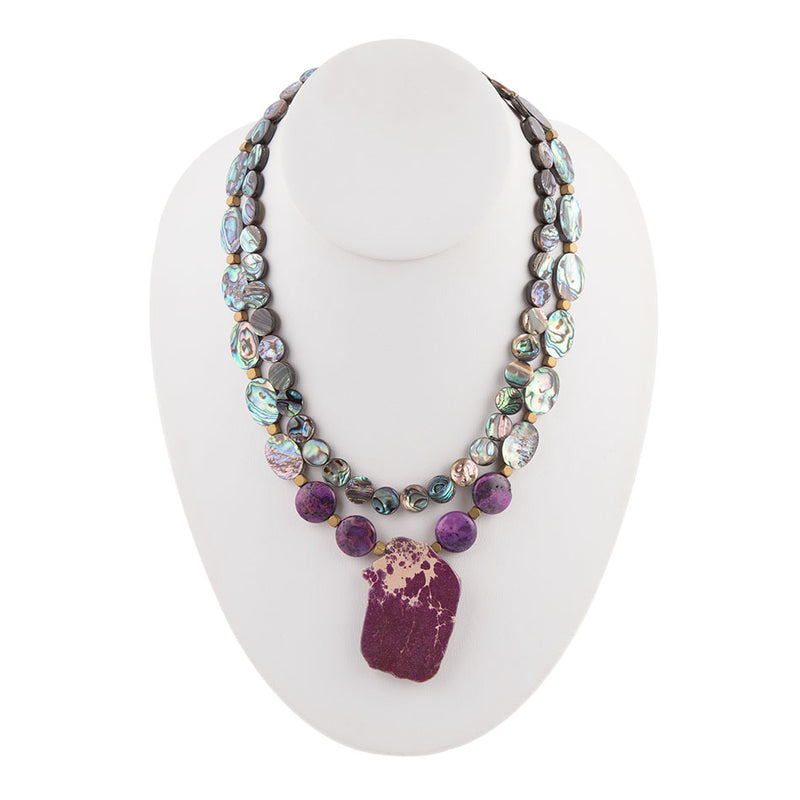 Purple Hues Strand Necklace