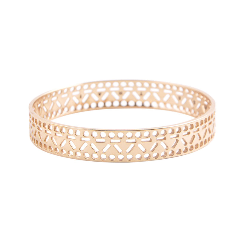 Cut it Out Bangle Bracelet