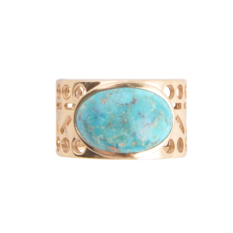Cut it Out Turquoise Ring