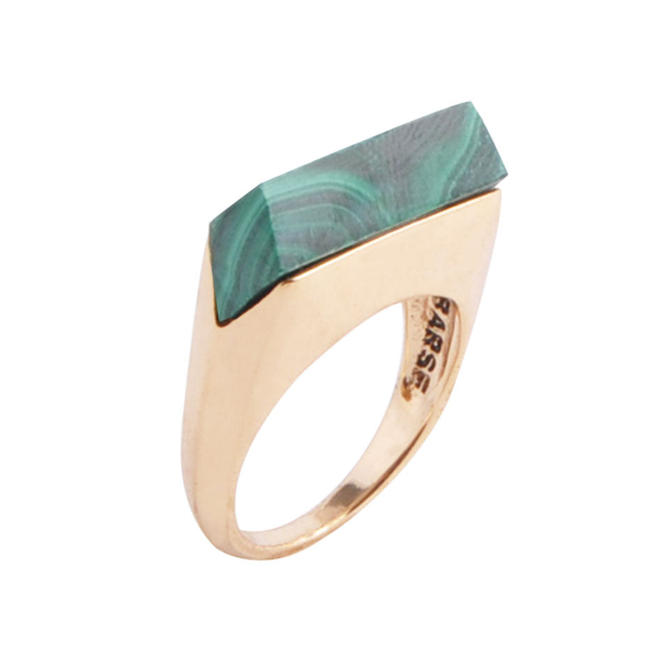 Linear Ring - Malachite