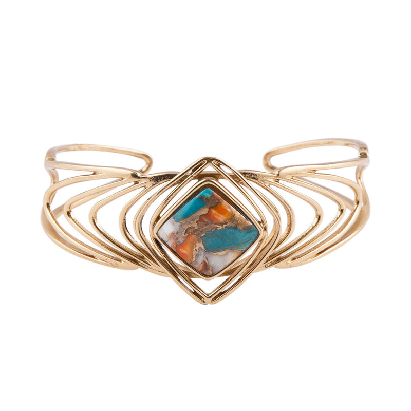 Good Vibrations Spiny Oyster Cuff Bracelet