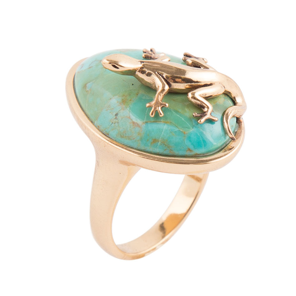 Gecko Turquoise Ring