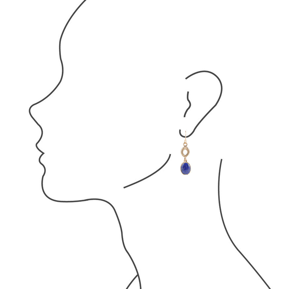 All Roped Up Lapis Earring