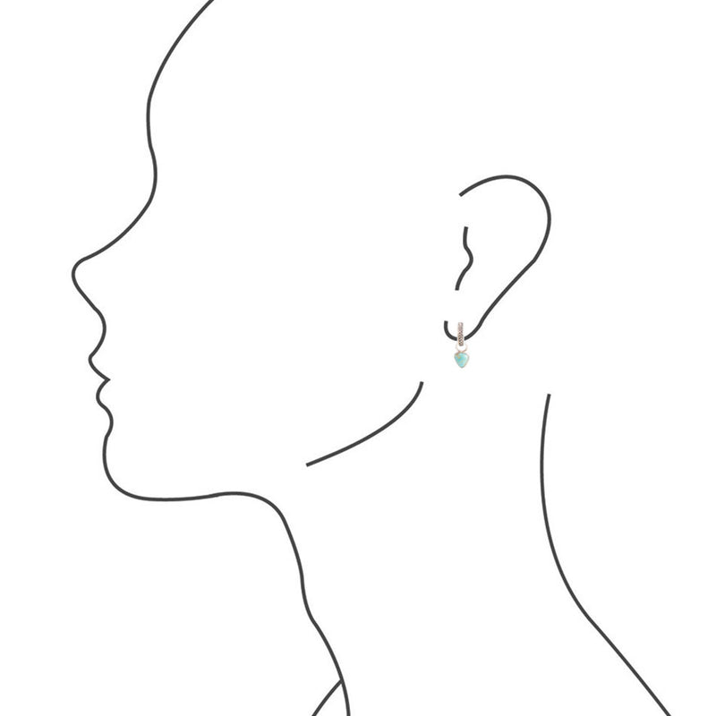 Braided Detail Turquoise Earring