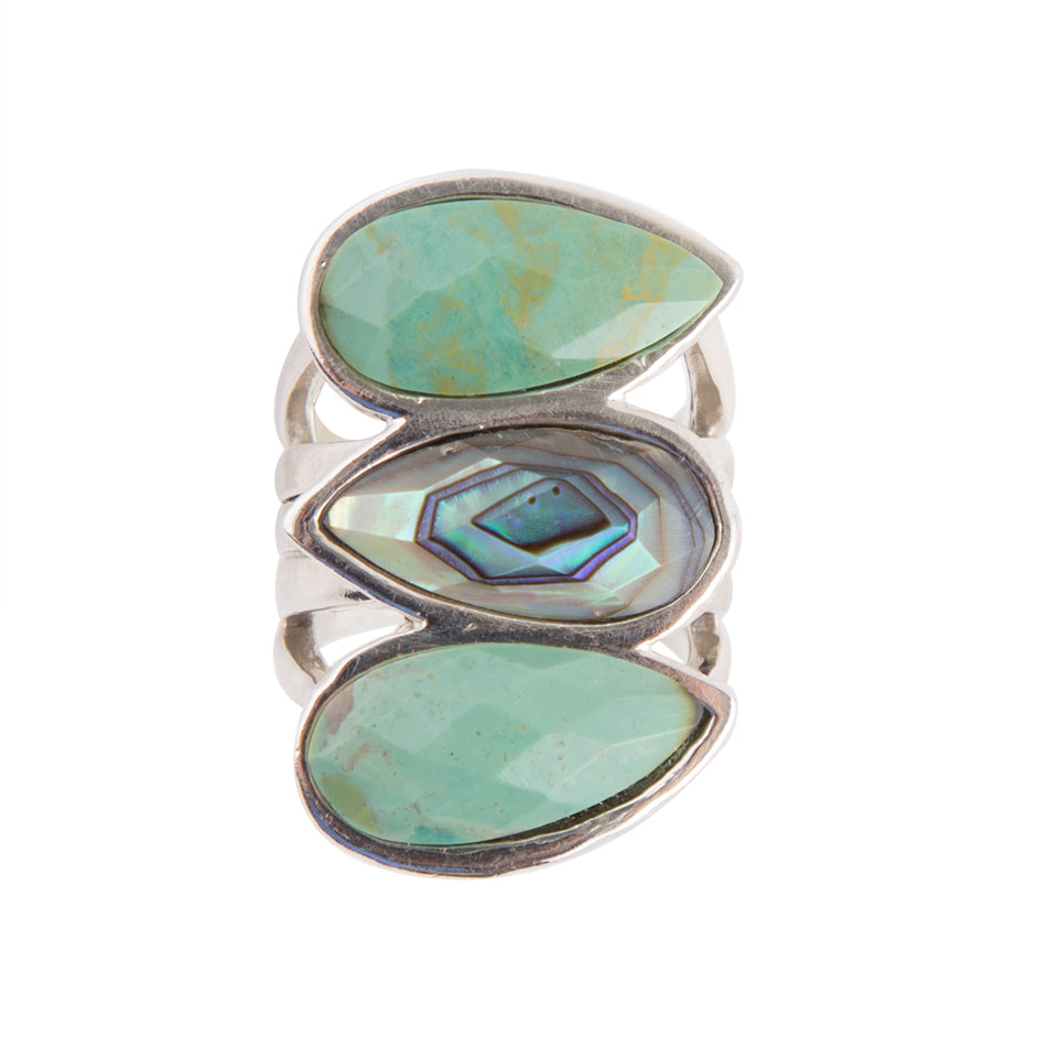 Gigi Abalone and Turquoise Ring