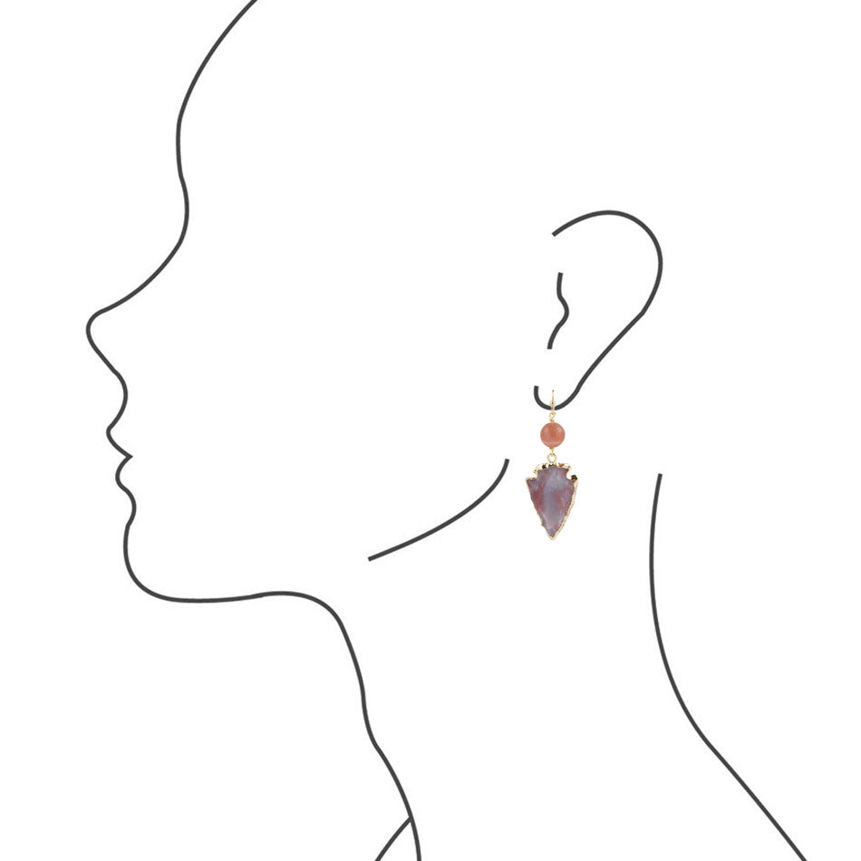 Fall Arrowhead Earring