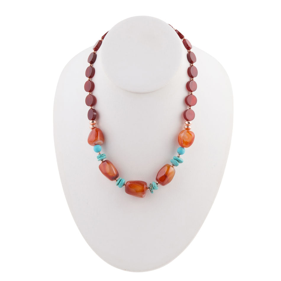 Headed West Carnelian Necklace