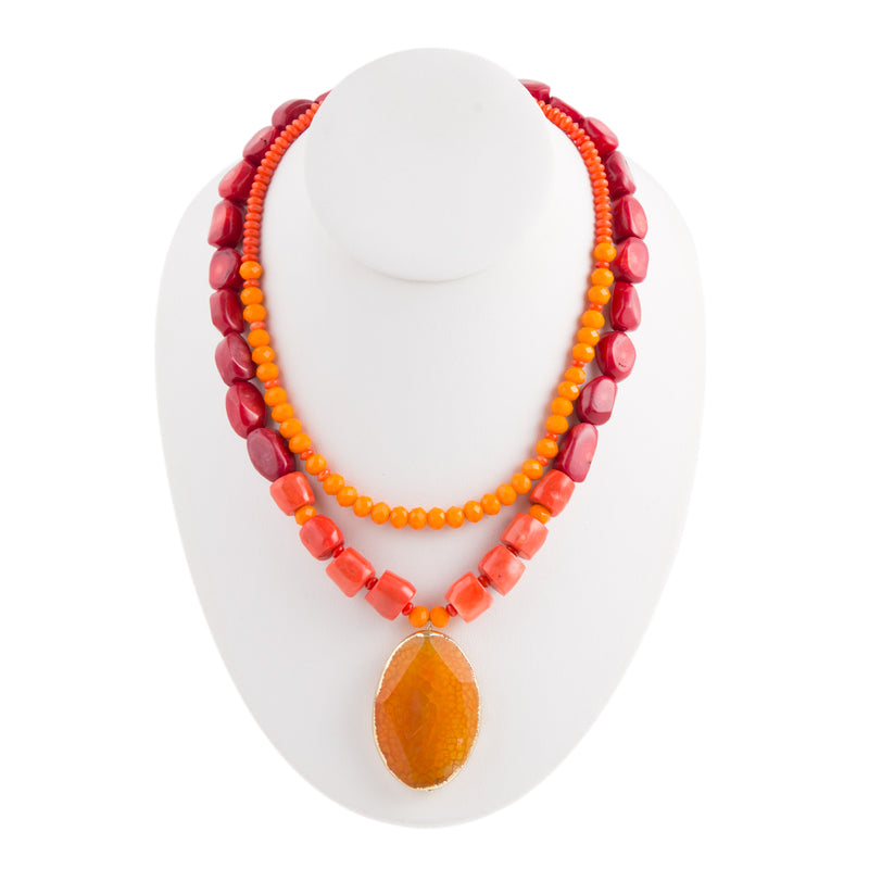 Coral Splash Necklace