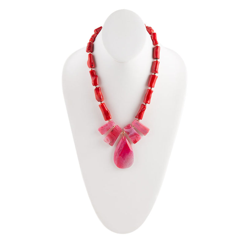 Coral Love Necklace