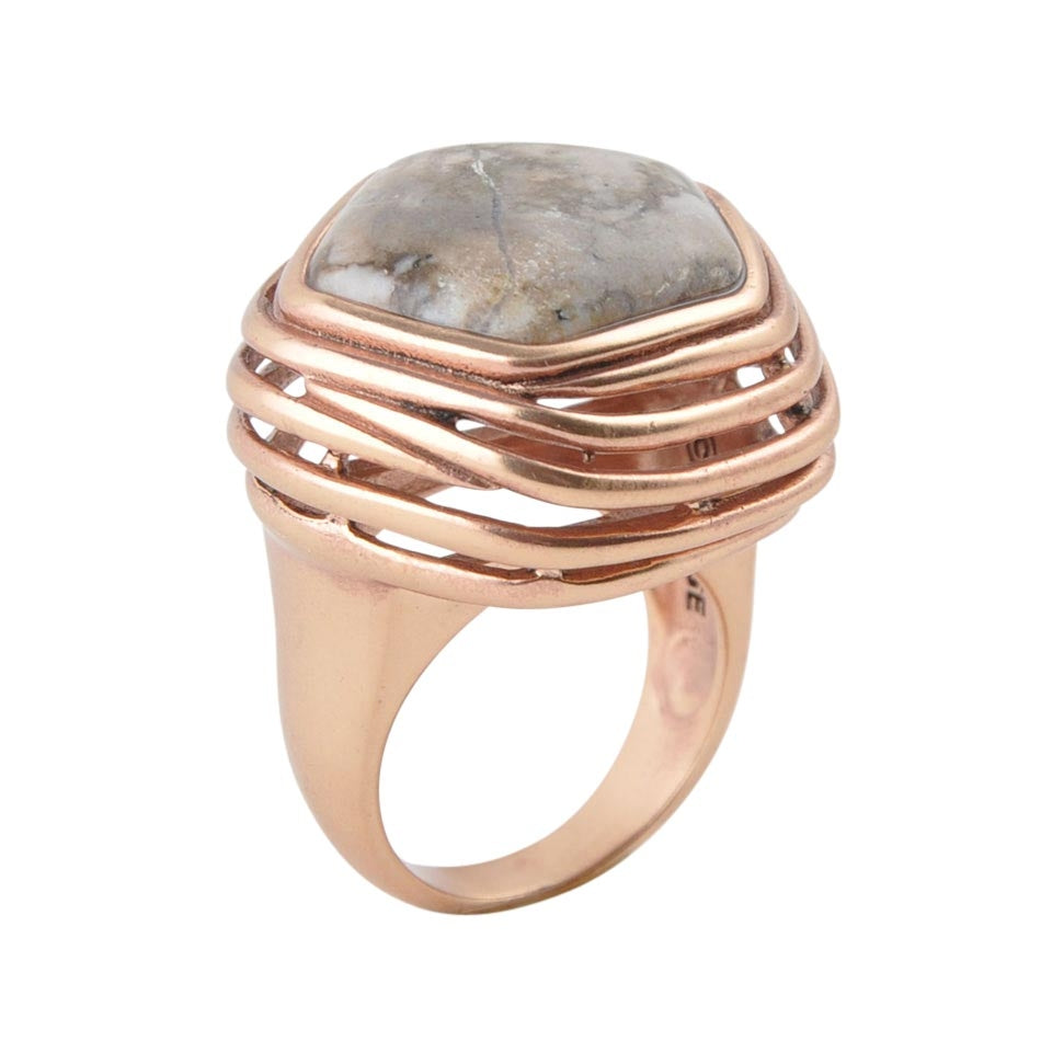 It's Amazing Natural Magnesite Copper Ring