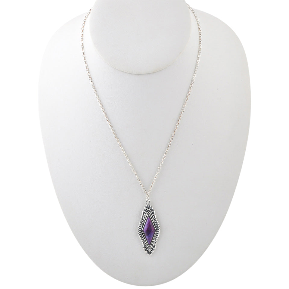 Anemone Purple Turquoise Necklace